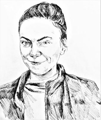 drawing of McKay McFadden by Vanessa Waring