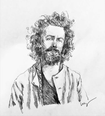 drawing of Perry Shimon by Vanessa Waring