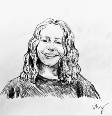 drawing of Tenaya Tremp by Vanessa Waring
